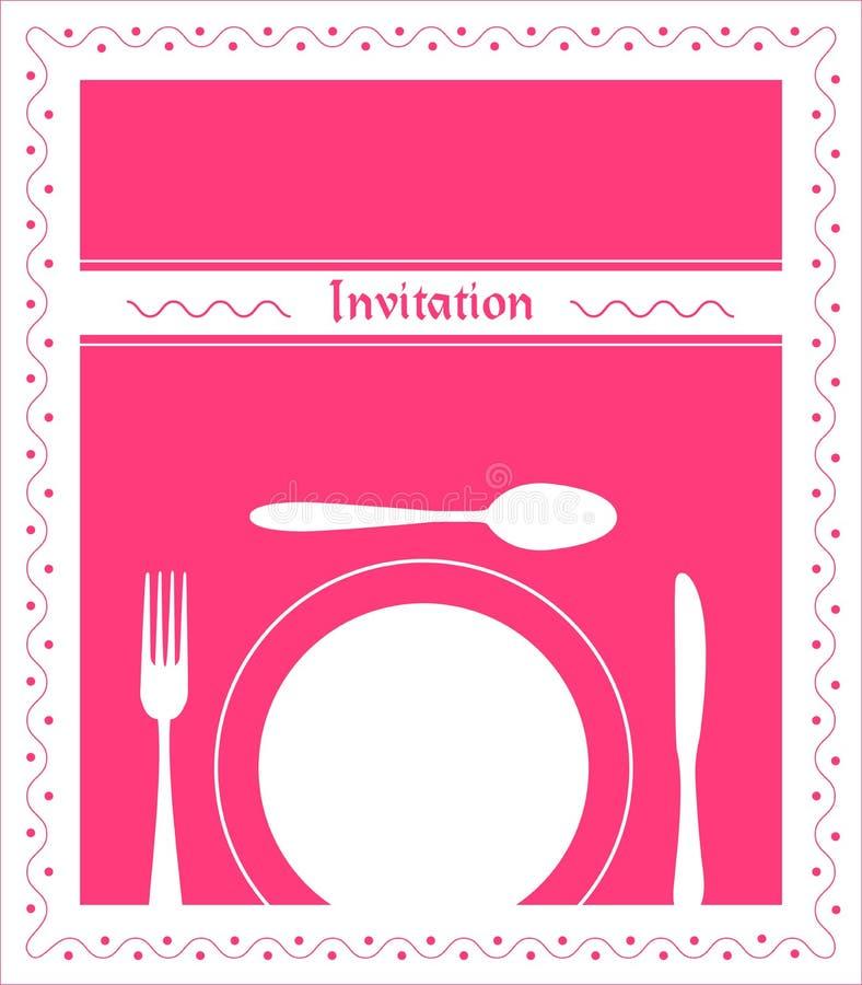 Invitación de la cena libre illustration