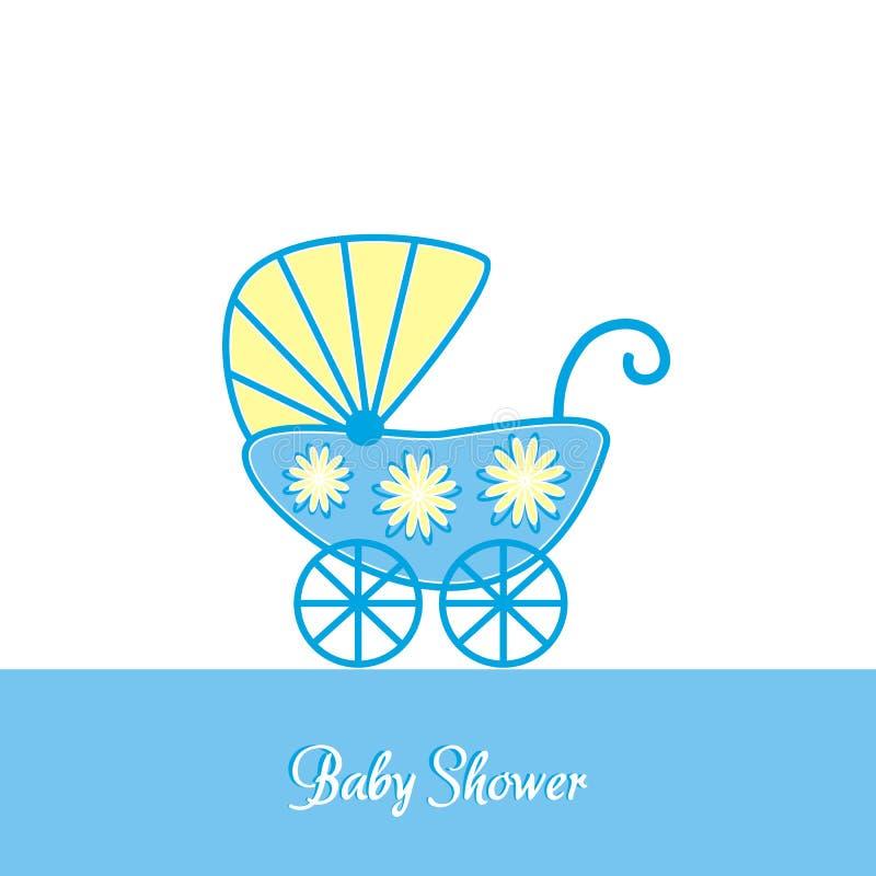 Invitación de la fiesta de bienvenida al bebé stock de ilustración