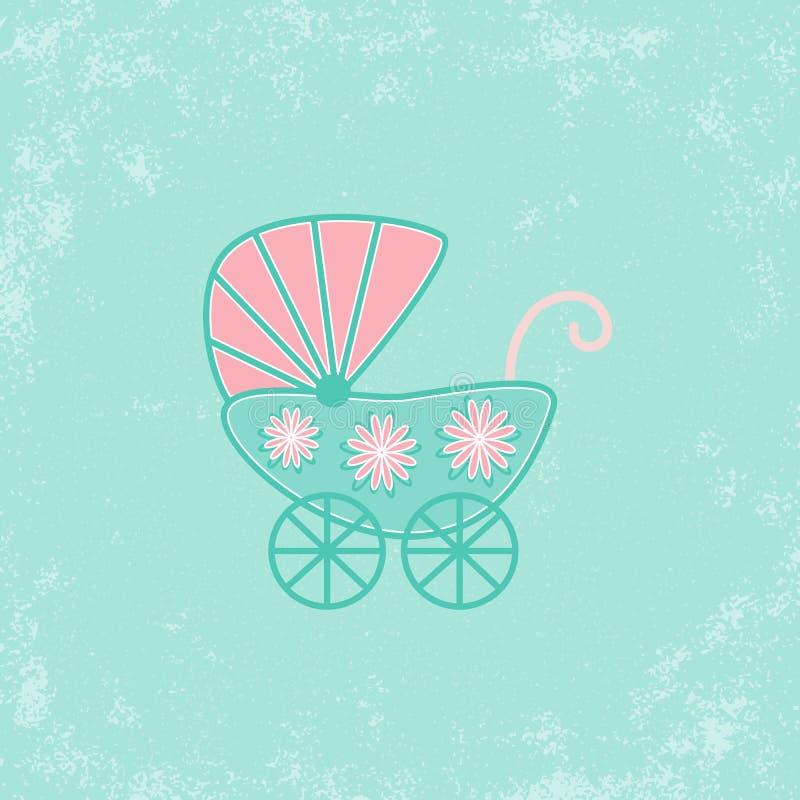 Invitación de la fiesta de bienvenida al bebé libre illustration