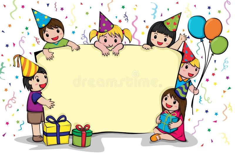 Invitación de la fiesta de cumpleaños stock de ilustración