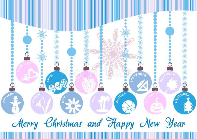 Invitación de la Navidad stock de ilustración
