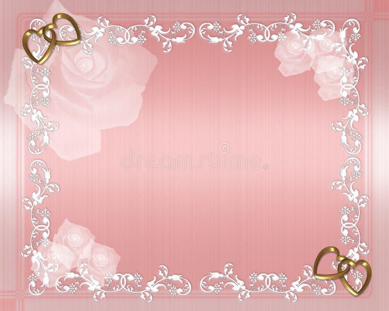 Invitación de la tarjeta del día de San Valentín o de boda stock de ilustración