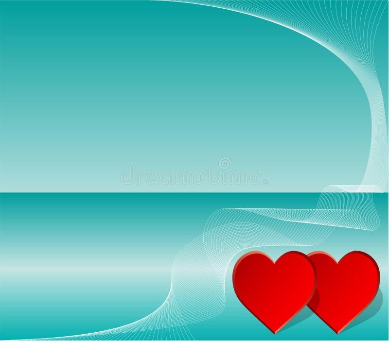 Invitación de la tarjeta del día de San Valentín o de la boda stock de ilustración