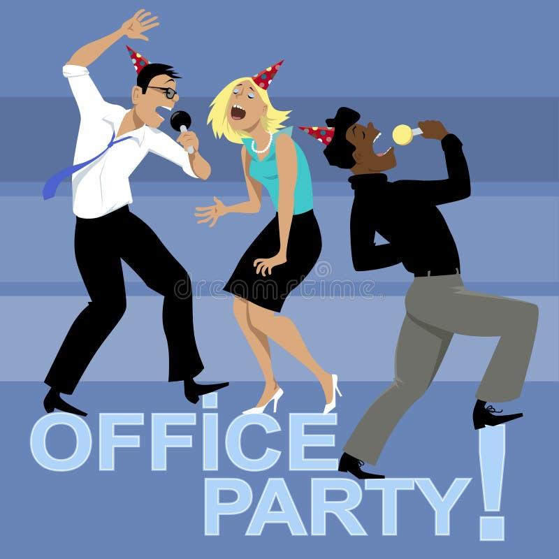 Invitaci n de las fiestas en la oficina ilustraci n del for Fiesta en la oficina