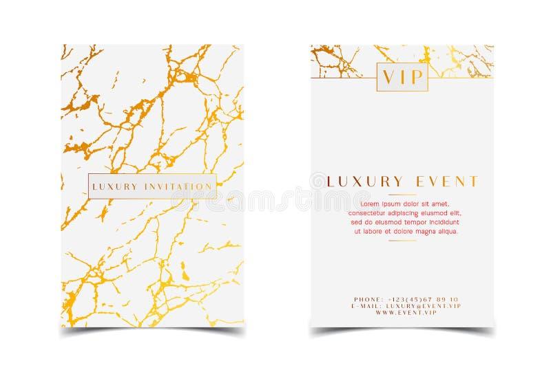 Tarjeta Blanca Elegante De La Invitación Del Evento De Lujo