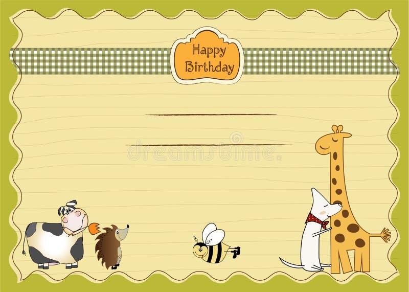 Invitación del feliz cumpleaños ilustración del vector