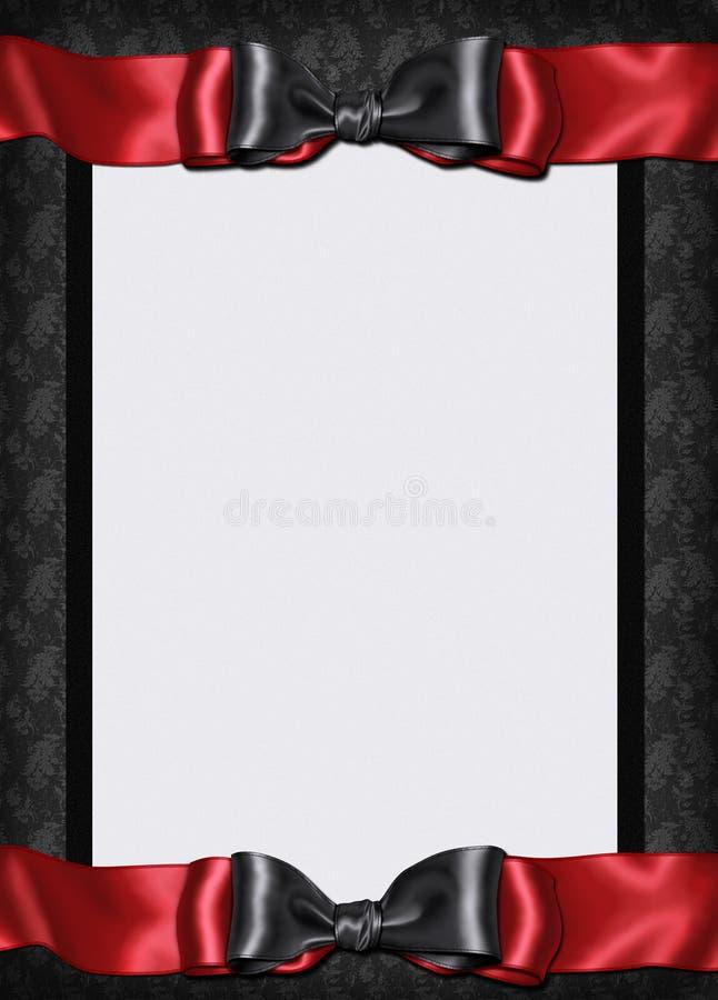 Invitación del menú de la tarjeta de Goth fotografía de archivo libre de regalías