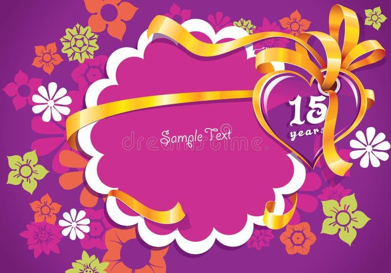 Invitación del partido 15 años imagen de archivo
