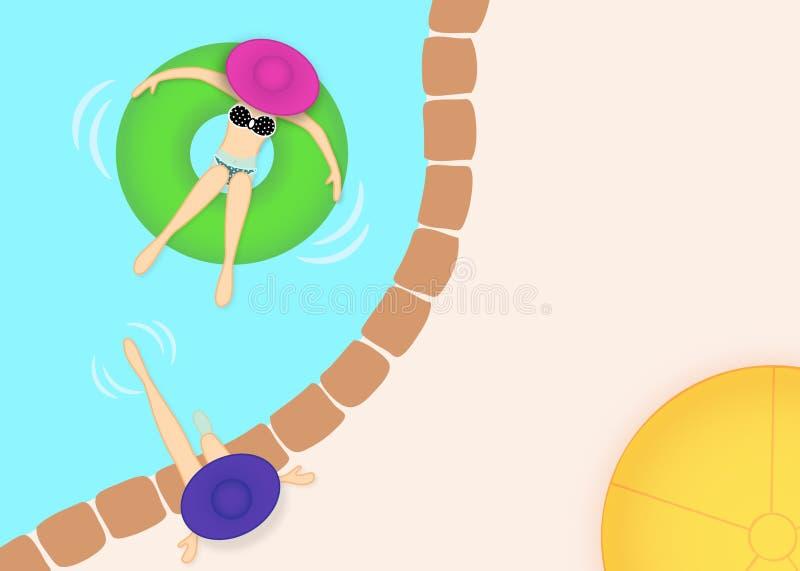 Invitación del partido de piscina ilustración del vector