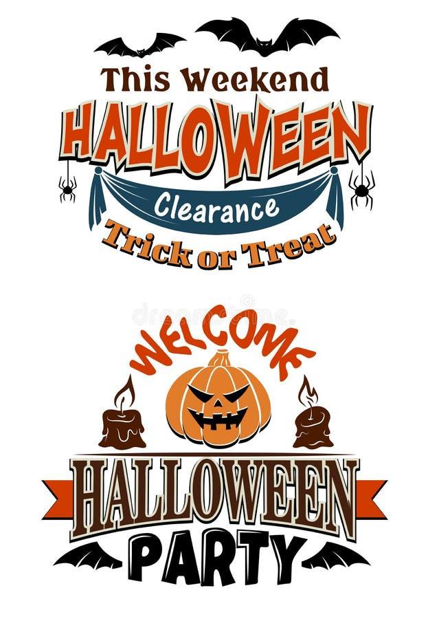 Invitación del partido del traje de Halloween stock de ilustración