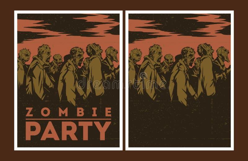 Invitación del partido del zombi libre illustration