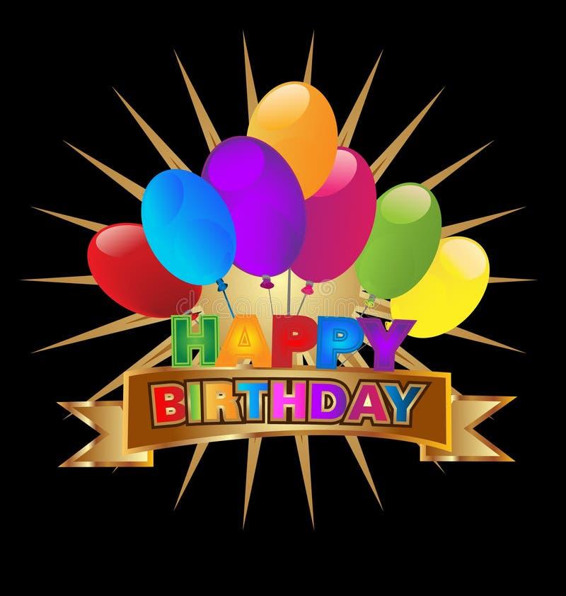 Invitación del partido del feliz cumpleaños, vector del icono libre illustration