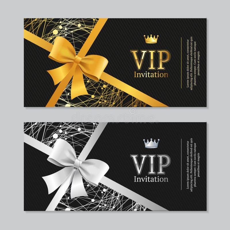 Invitación del Vip y sistema de tarjeta Vector ilustración del vector