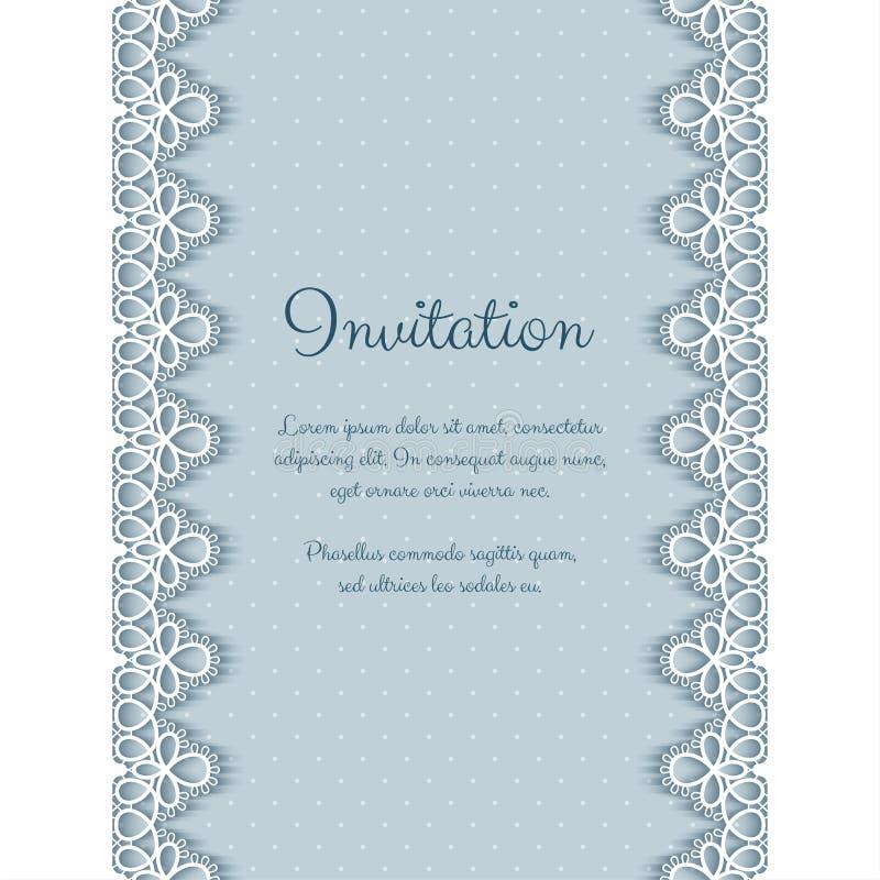 Invitación elegante con el cordón ilustración del vector