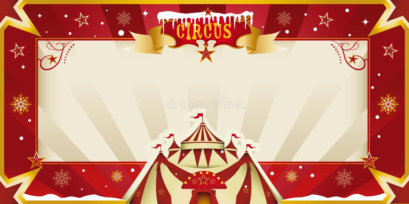 Invitación fantástica del circo de la Navidad. libre illustration