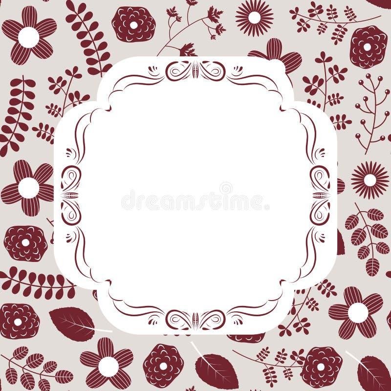 Invitación floral del vector elegante y elegante stock de ilustración