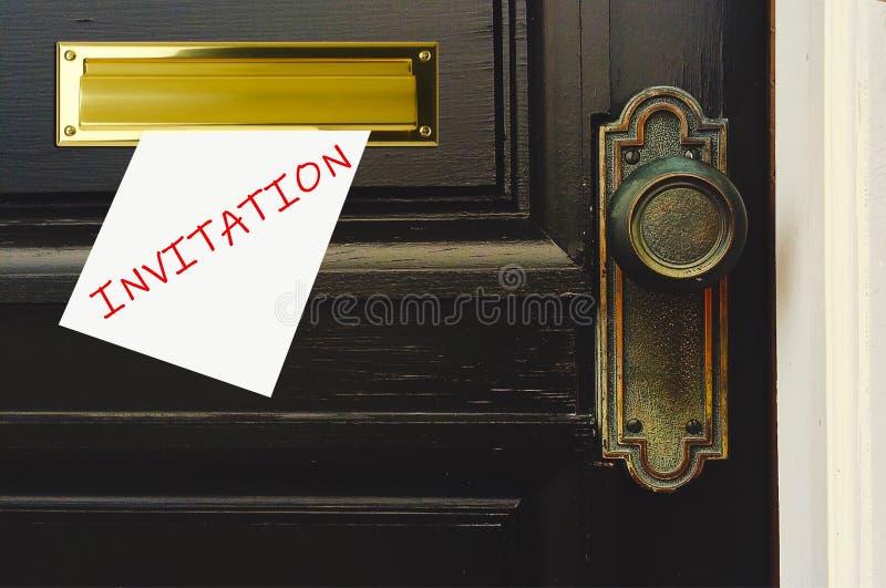 Invitación a la fiesta fotografía de archivo libre de regalías