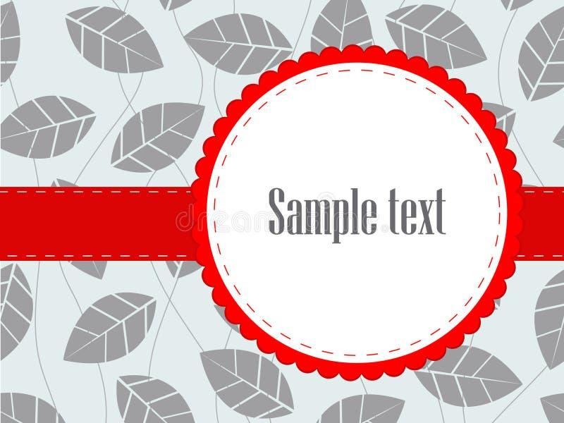 Invitación nupcial de la ducha de la venda del follaje rojo de la hoja stock de ilustración