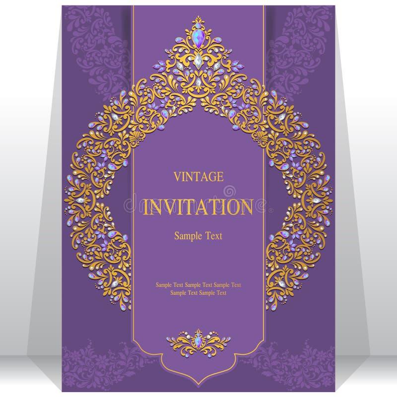 Invitación o tarjeta de la boda con el fondo abstracto ilustración del vector