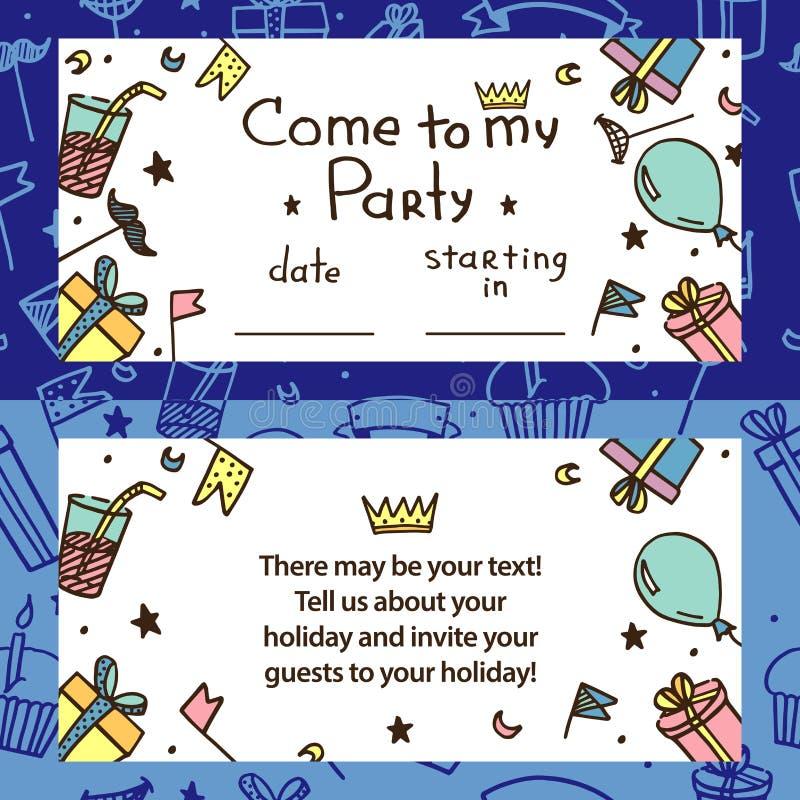 Invitación para el partido de los niños ilustración del vector