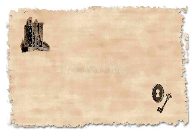 Invitación que se calienta de la casa stock de ilustración