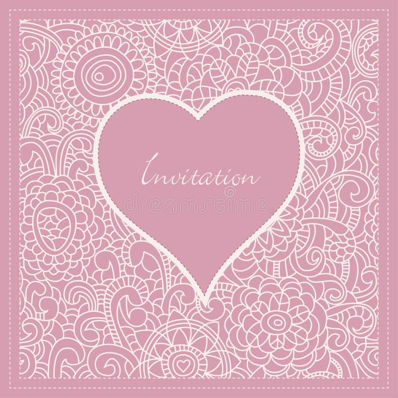 Invitación romántica stock de ilustración