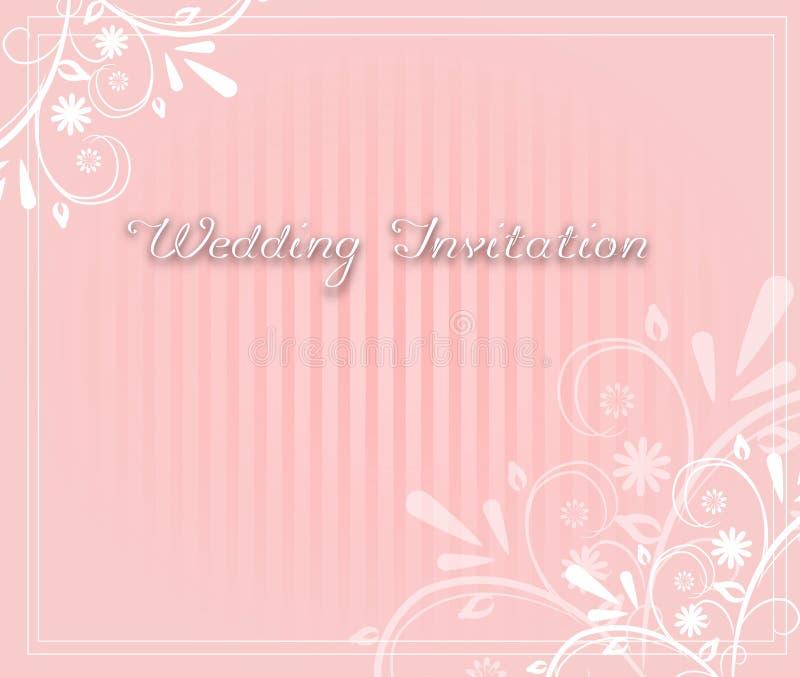 Invitación rosa clara de la boda libre illustration