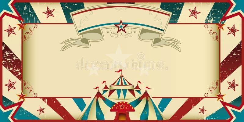 invitación sucia del circo ilustración del vector
