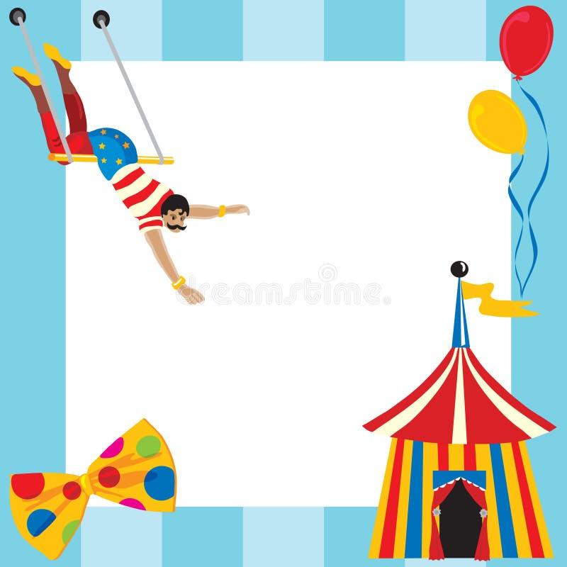 Invitación temática del partido del circo stock de ilustración