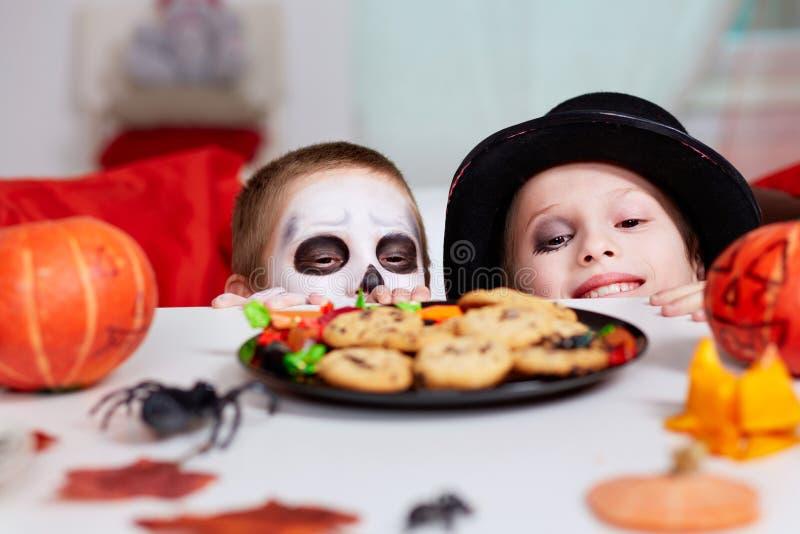 Invitaciones de Halloween foto de archivo libre de regalías