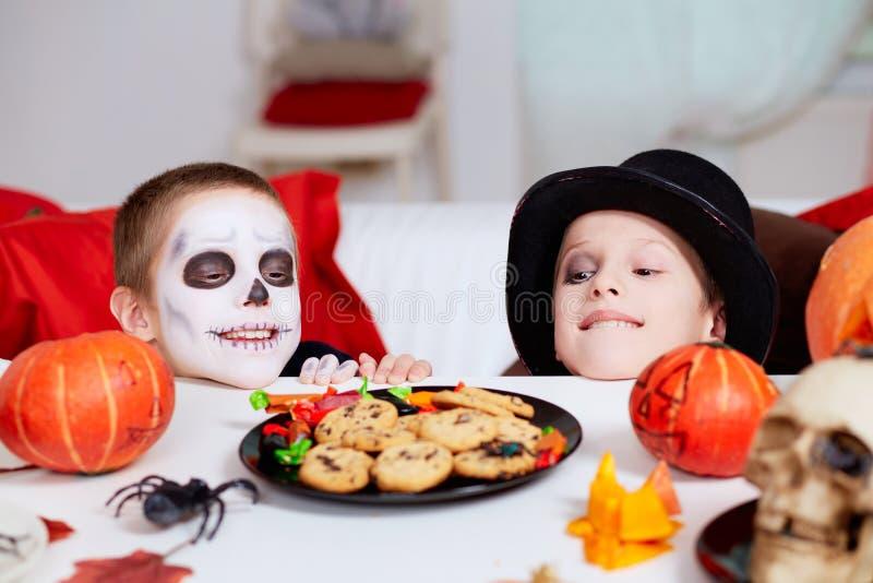 Invitaciones de Halloween fotografía de archivo libre de regalías