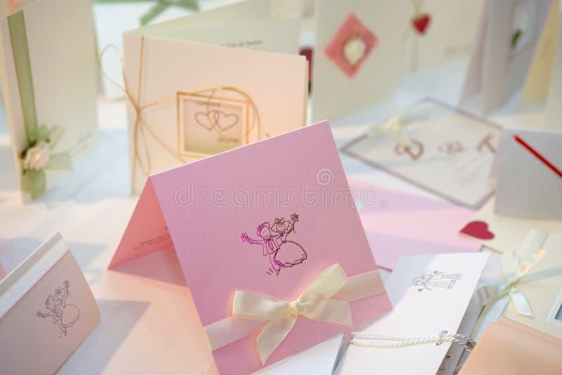 Invitaciones de la boda imagen de archivo libre de regalías