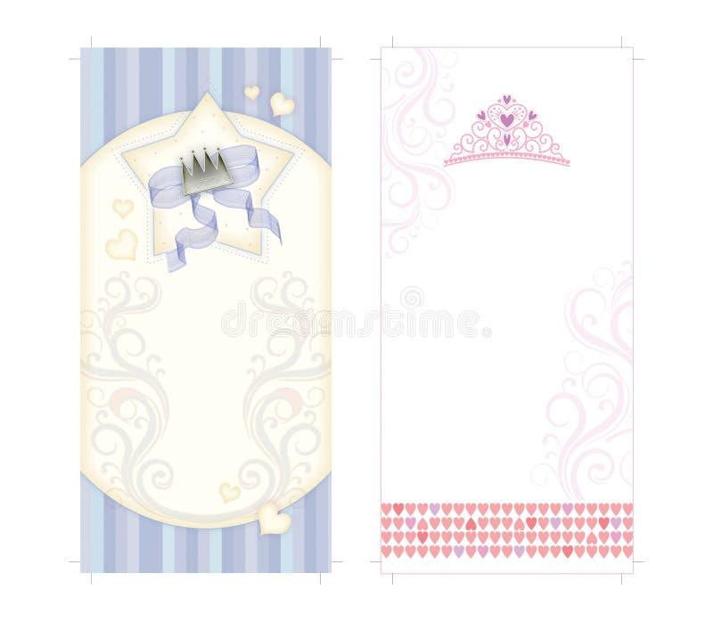 Download Invitaciones De La Corona Y Del Bautismo De La Corona Stock de ilustración - Ilustración de tarjetas, cabrito: 64207806