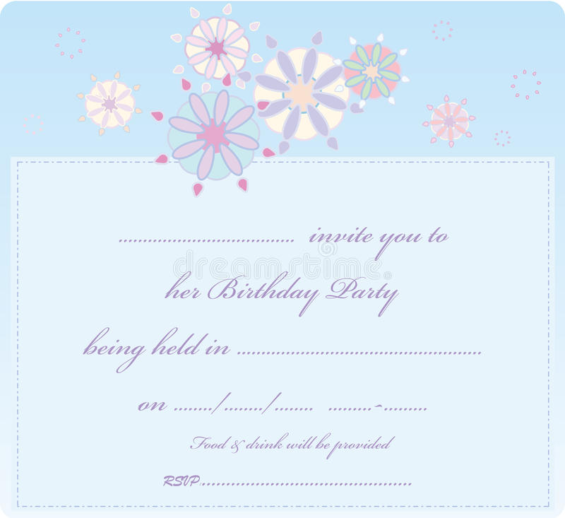 Invitaion card stock photography