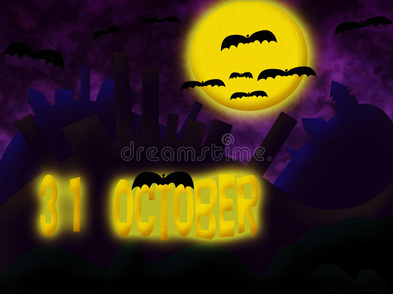 Invitation à Halloween. illustration libre de droits
