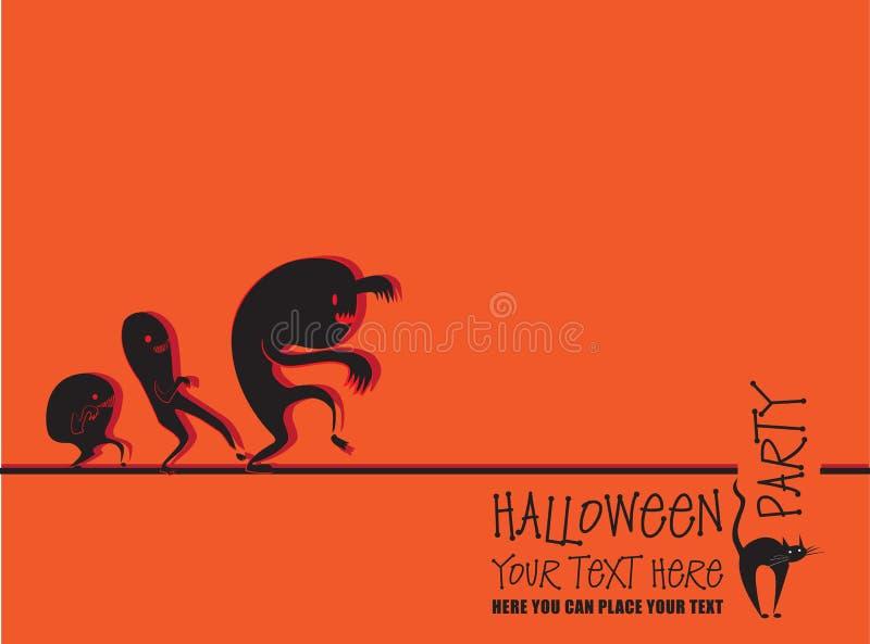 Invitation à Halloween illustration de vecteur