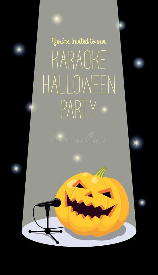 Invitation à la partie de karaoke de Halloween illustration stock