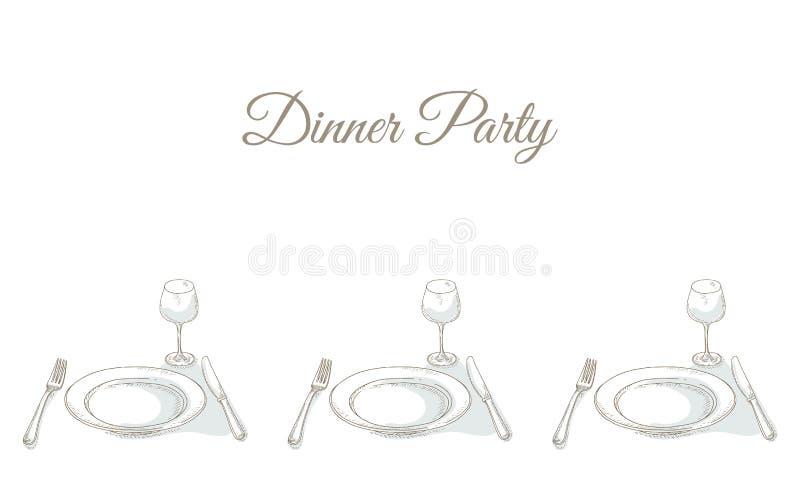 Invitation à un dîner illustration libre de droits