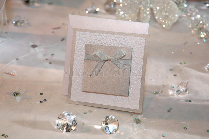 Invitation élégante de mariage image stock