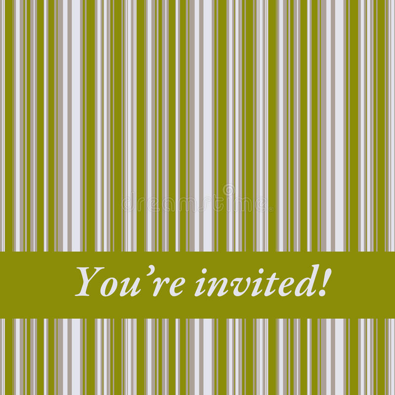 Invitation illustration libre de droits