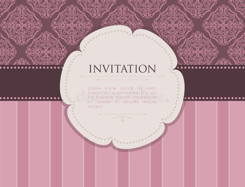 Invitation royalty free illustration
