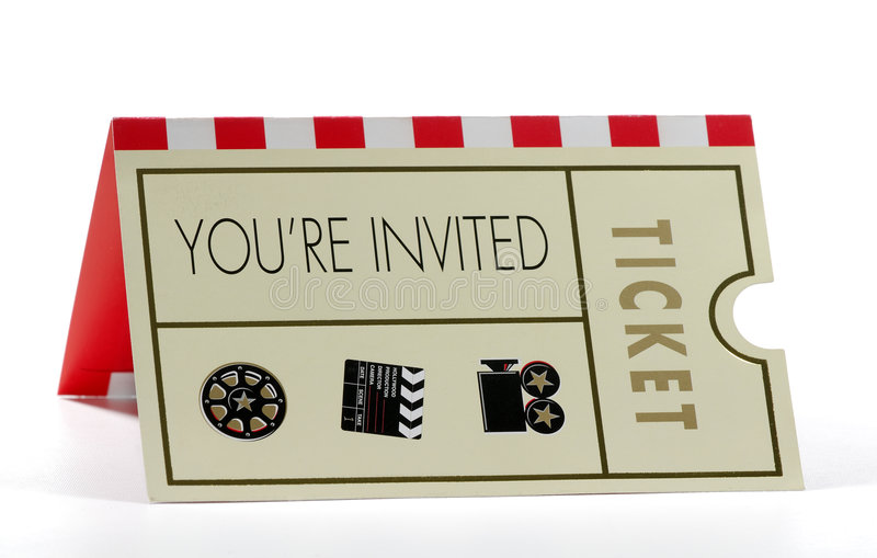 Invitation. Photo of a Invitation to an Event - Event Related Object stock photo