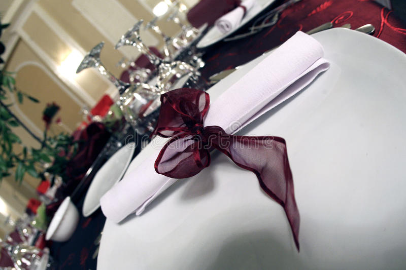 Invitation. An invitation for the party, placed on the table stock photography