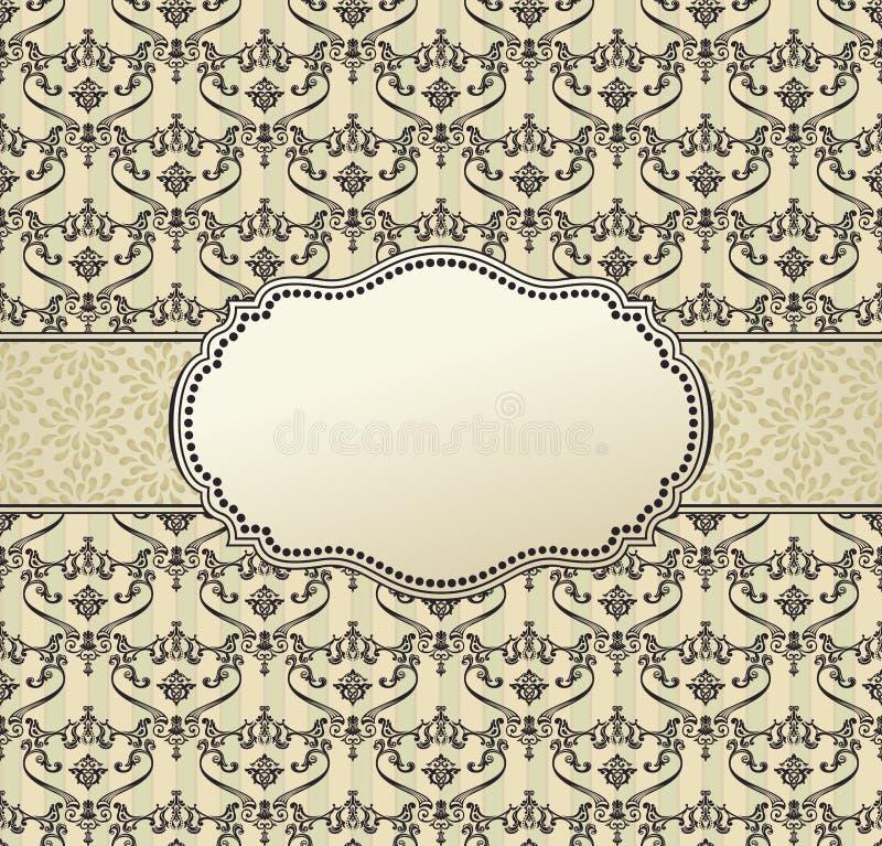Invitation art vector frame package label vintage royalty free illustration