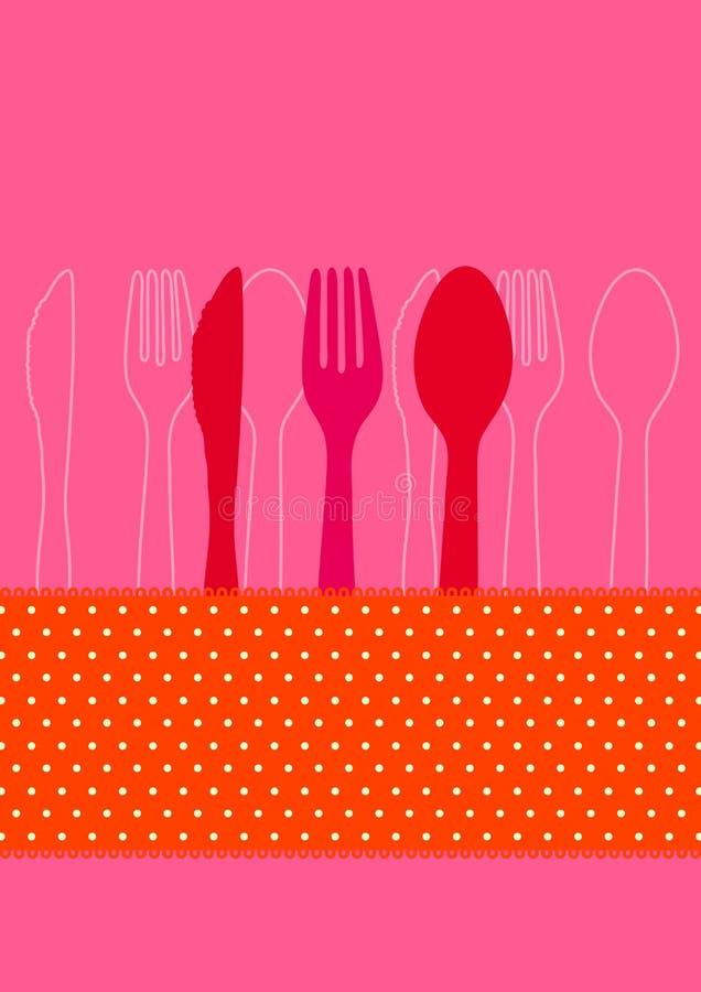 Invitation au dîner illustration stock