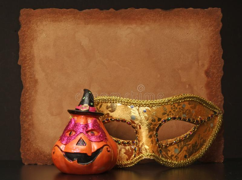 Happy Halloween. Invitation Background copy space for Happy Halloween stock photo