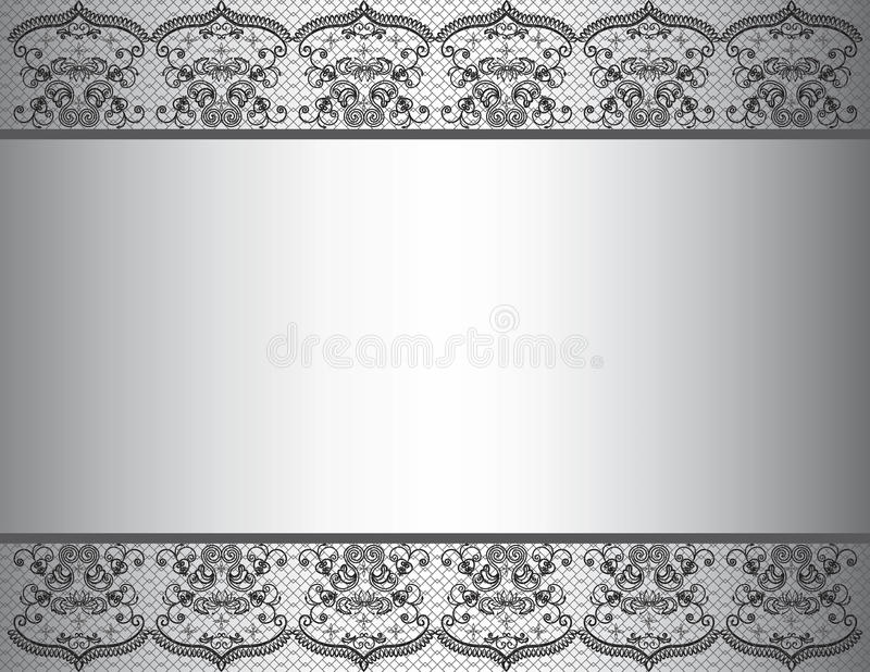 Invitation background with lace floral border stock vector download invitation background with lace floral border stock vector illustration of fashion invitation stopboris Choice Image