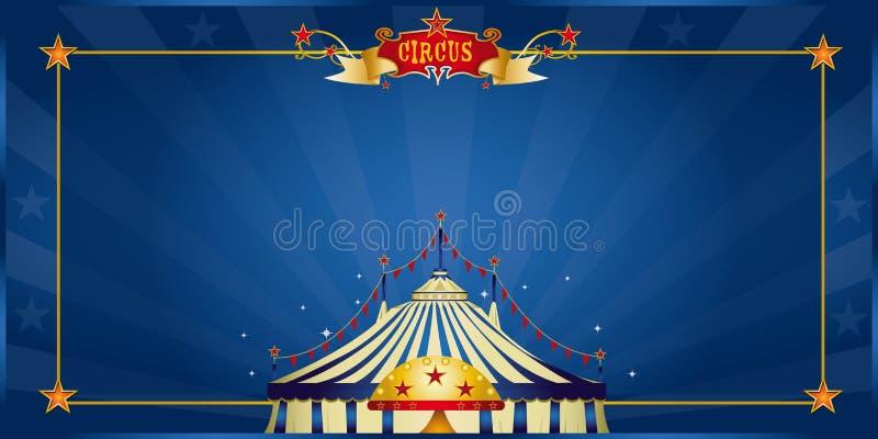 Invitation bleue magique de cirque illustration libre de droits