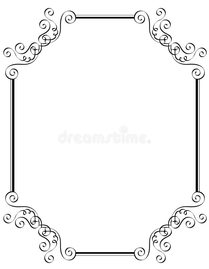 Download Invitation border / frame stock vector. Illustration of artwork - 12221360