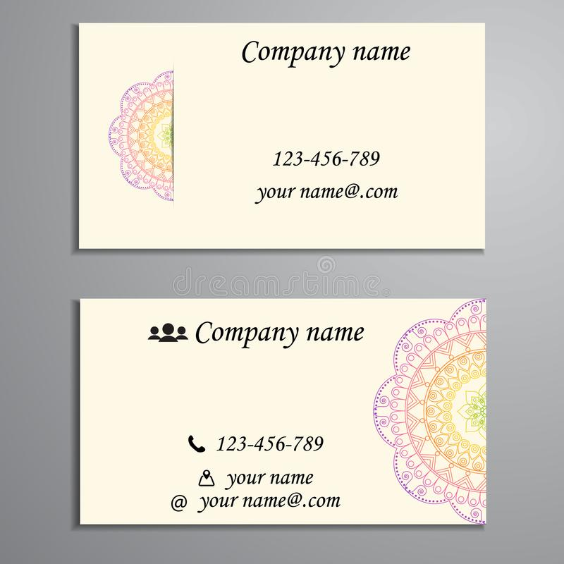 Invitation, Business Card Or Banner With Text Template. Round Fl ...